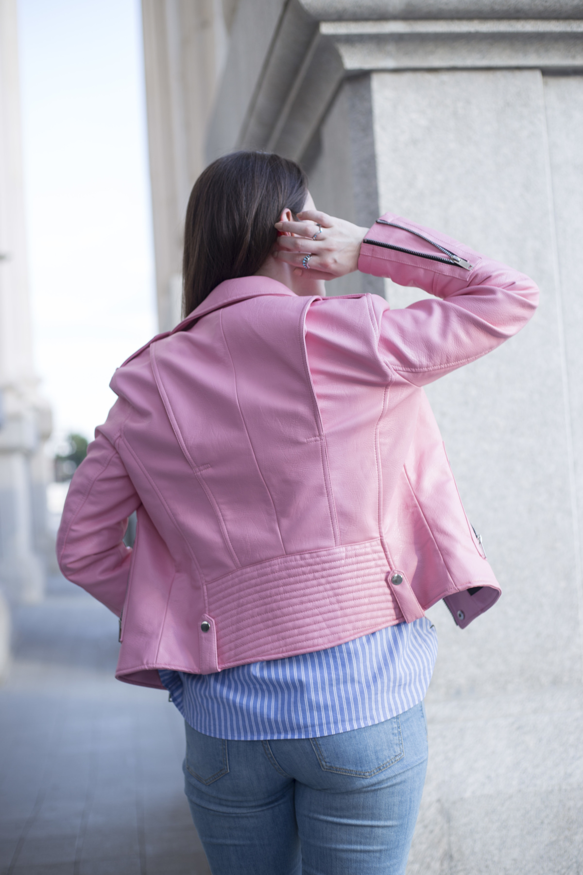 People told me that they wouldn't know how to pull off wearing a pink leather jacket, so I decided to put together three outfits to give you an idea how. Read more on www.dilekaspires.com
