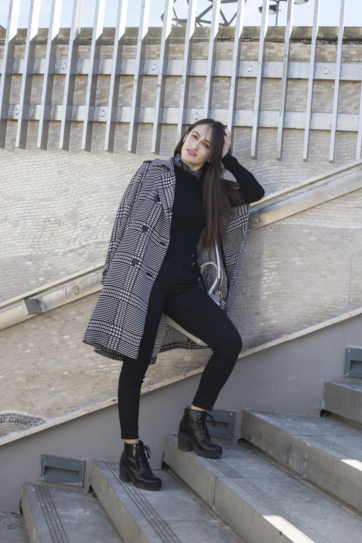 """Check out the forth look of """"The Scarf Project"""" where I show you how to style a small rectangular scarf during the colder months of the year! Read more on www.dilekaspires.com"""