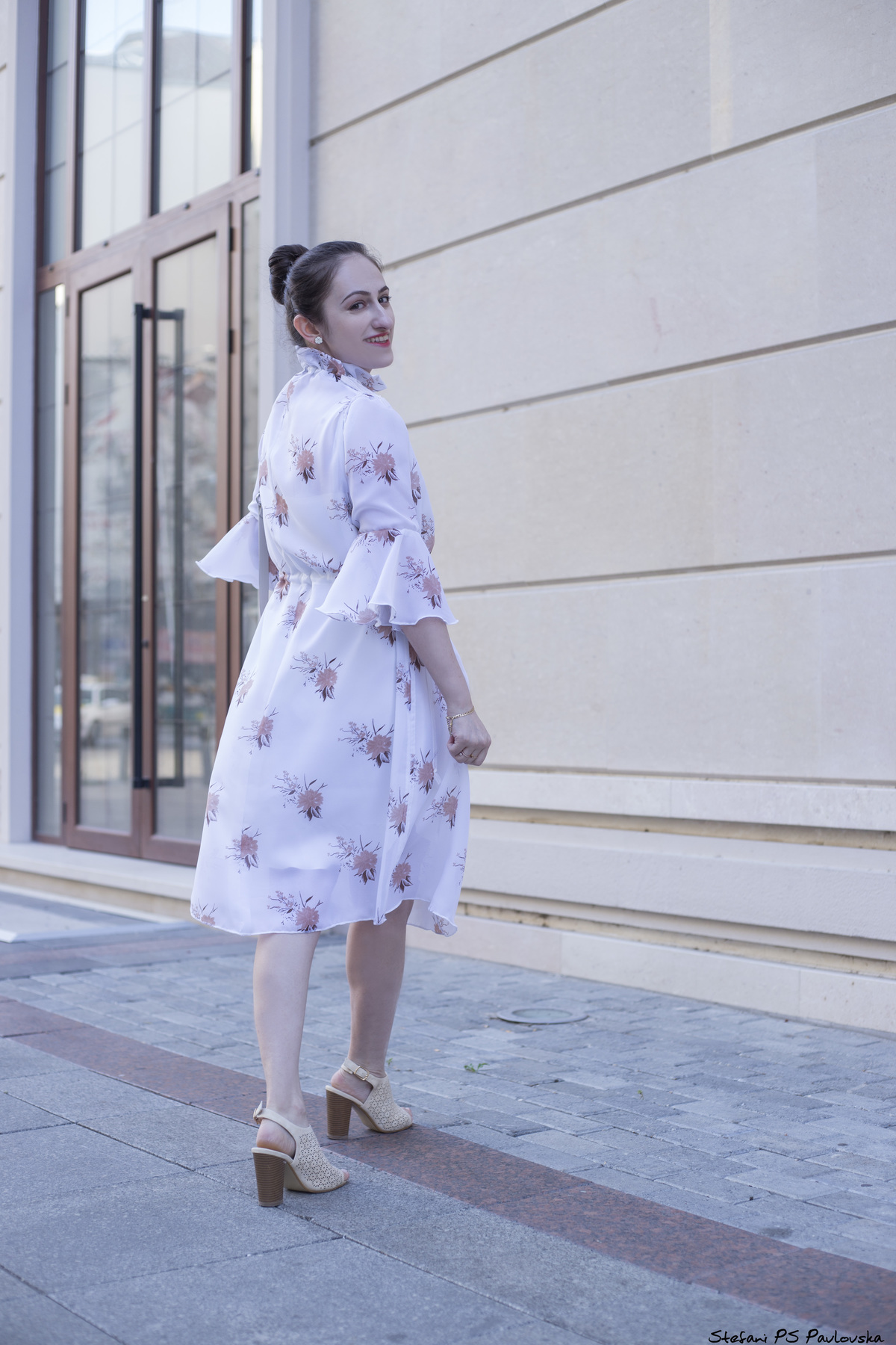 My idea was to make a very ethereal dress with a feminine touch that would give off a very pure and delicate vibe. So I designed this white floral dress. Read the story on www.dilekaspires.com