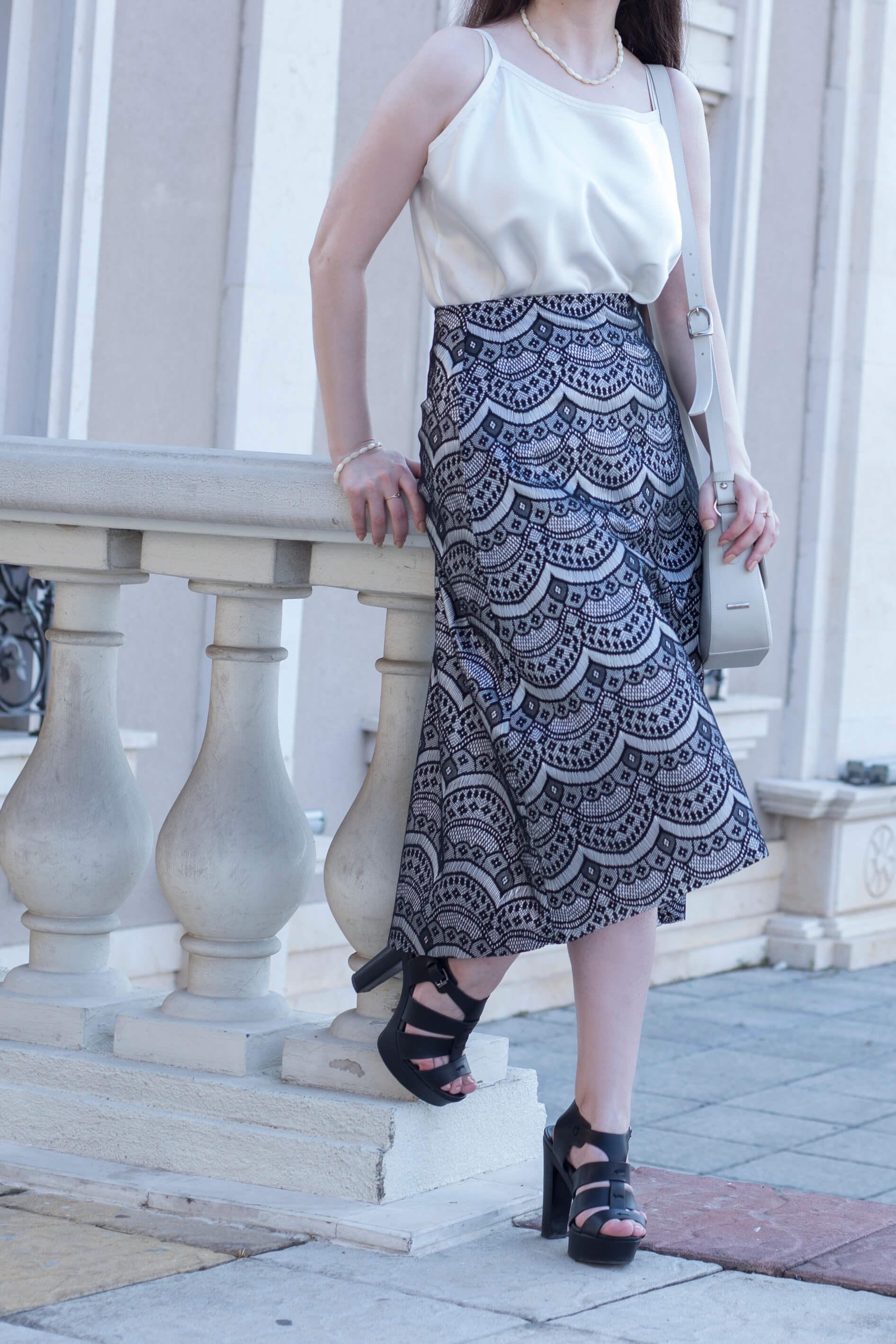 I designed a simple asymmetrical A-line lace skirt and made it in just few hours! Would you be interested in seeing sewing tutorials on www.dilekaspires.com?
