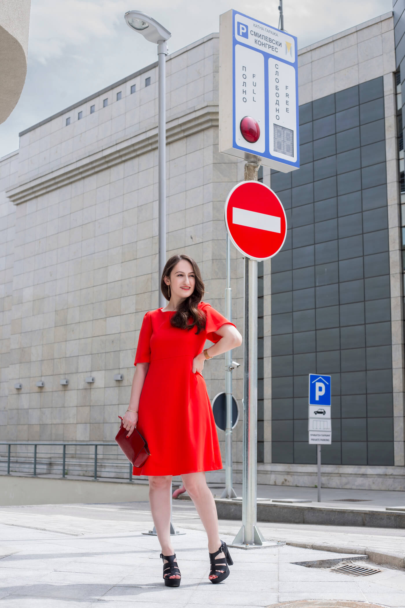 Contrary to popular belief, I think red is the easiest color to pull off. Read more about it in this post featuring this charming little red dress.
