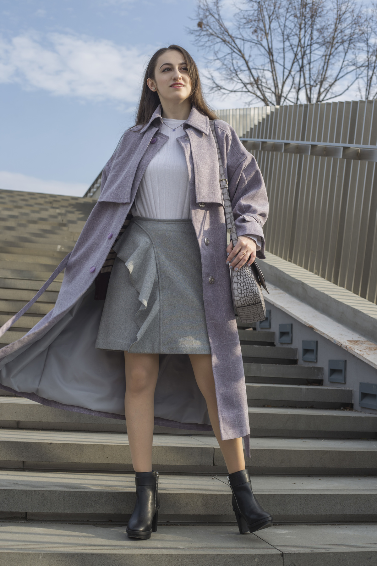 I marked this autumn with a new trench coat I recently made. Go to www.dilekaspires.com to see it and read about how I learned to make my own clothes.