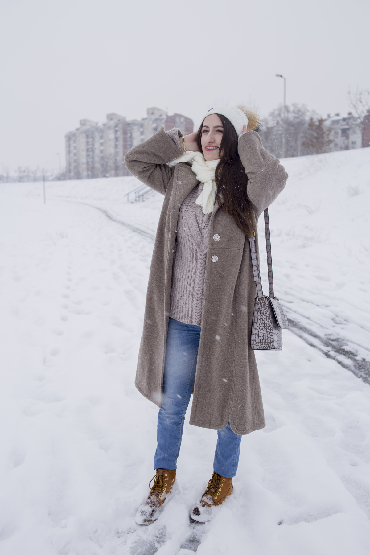 A casual winter outfit for a casual day in the snow!